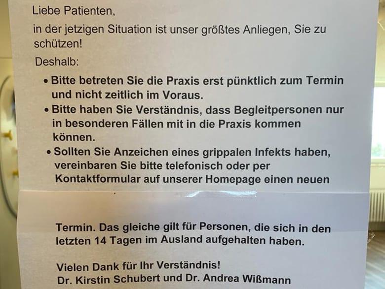 Corona-Virus: Regelungen für die Sprechstunde in der Augenartzpraxis in Ettlingen